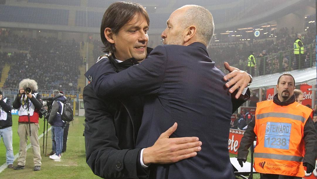 Simone Inzaghi e Stefano Pioli. Getty