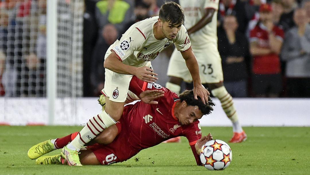 Brahim Diaz,22 anni, in azione contro il Liverpool. Ap