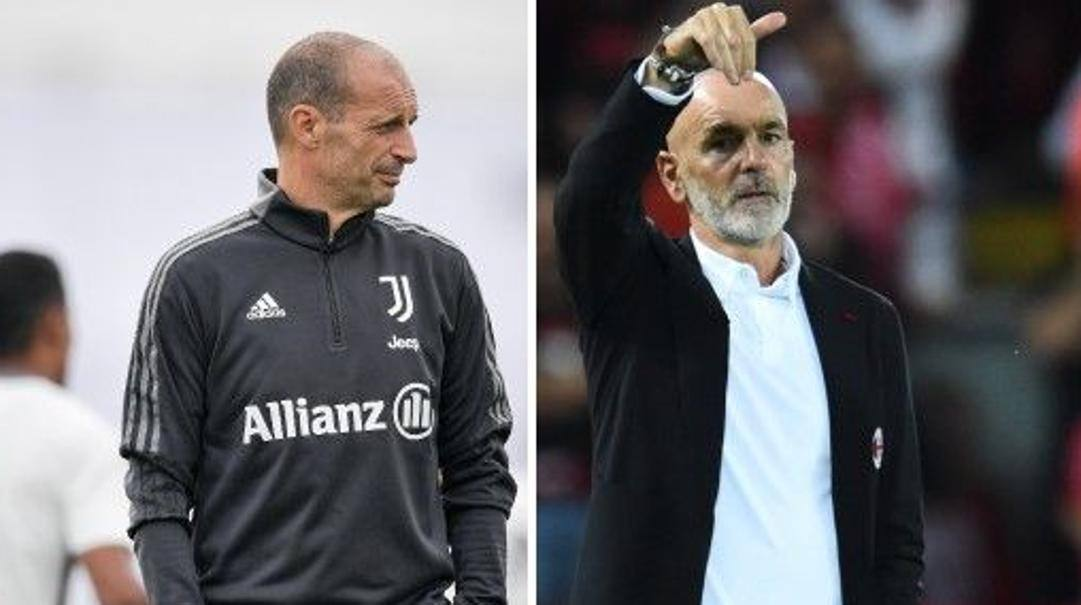 Max Allegri e Stefano Pioli. Getty-Ansa