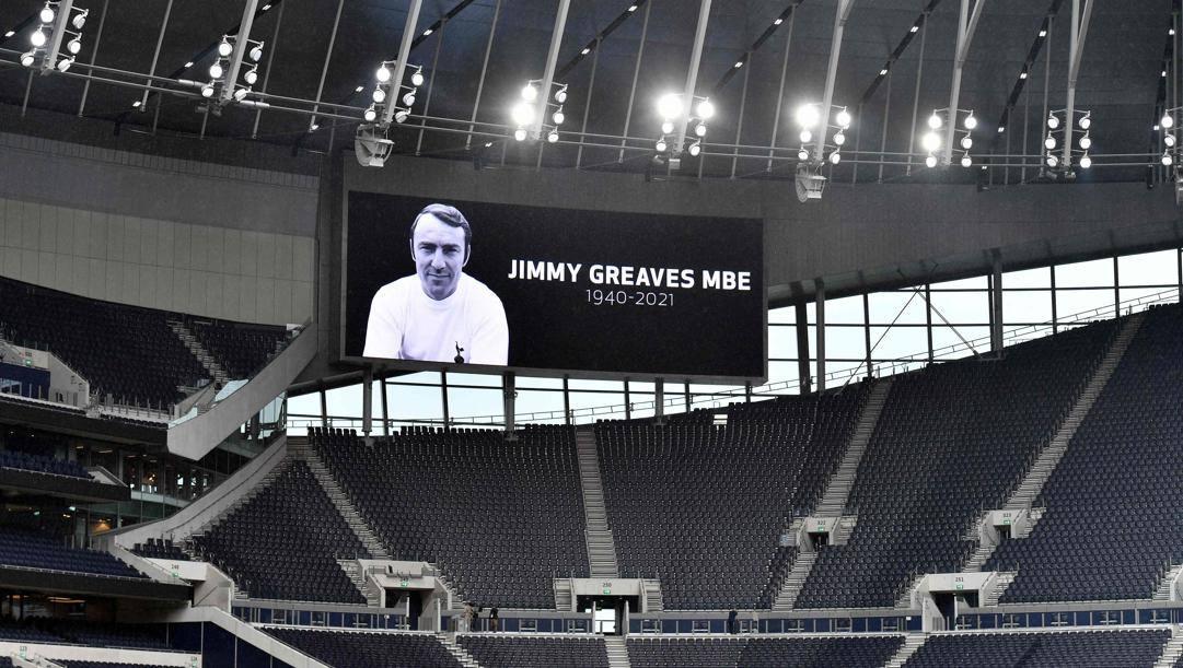 Il ricordo di Greaves al Tottenham Hotspur Stadium. Afp