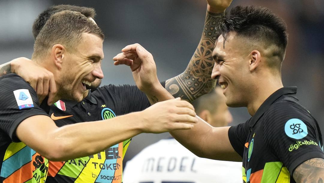 Dzeko e Lautaro, migliori marcatori Inter. Ap