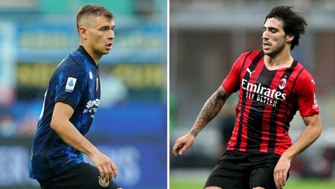 Nicolò Barella, 24 anni, e Sandro Tonali, 21. Lapresse/Kulta