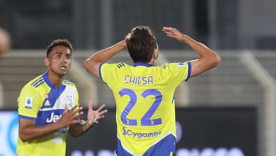 Federico Chiesa esulta dopo il gol del 2-2. Getty Images