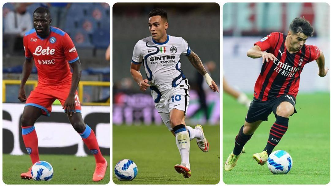 Kalidou Koulibaly, Lautaro Martinez e Brahim Diaz