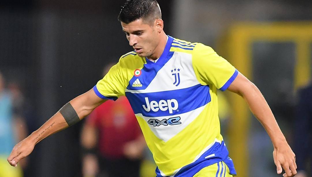 Alvaro Morata, 28 anni, è uno dei subentrati di Allegri nella partita contro lo Spezia