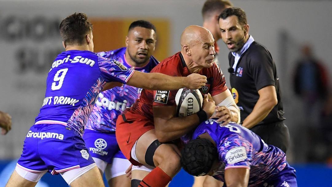 Sergio Parisse, 38, contro lo Stade Français. Afp