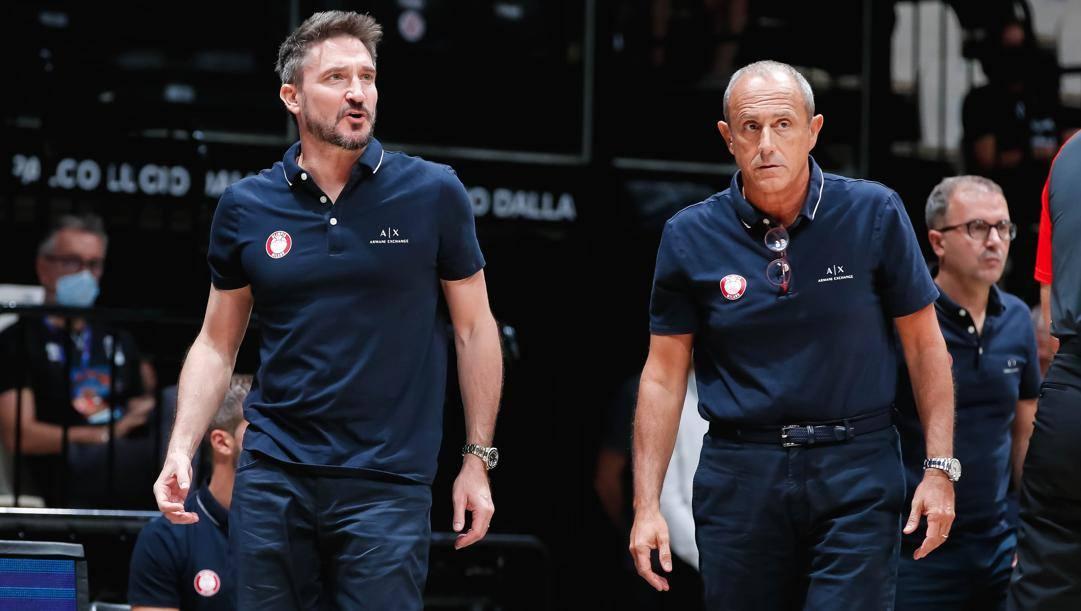 Giammarco Pozzecco, 49 anni, ed Ettore Messina, 62 domani. Ciamillo