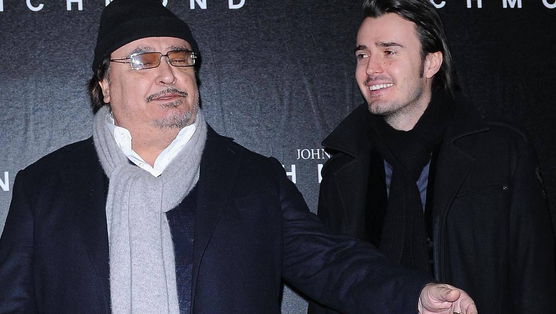 Umberto Smaila con il figlio Rudy. Getty Images