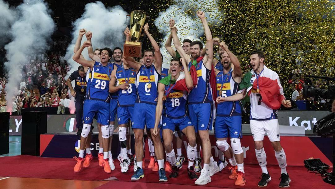 Gli azzurri campioni d'Europa. Lapresse
