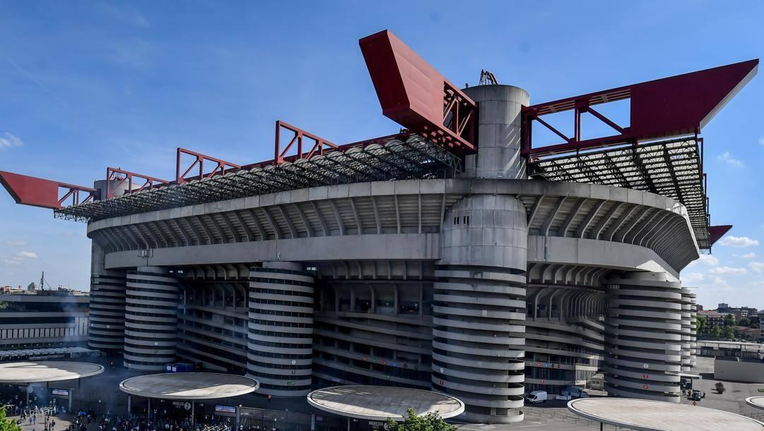 Lo stadio Meazza in San Siro. LaPresse