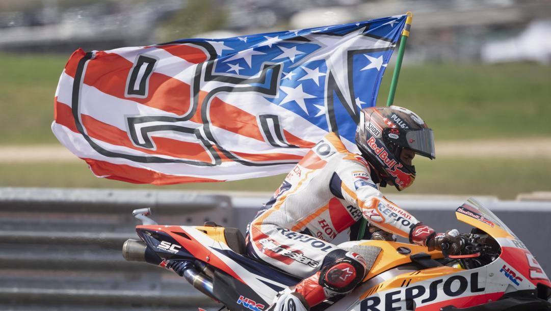 Marc Marquez ha trionfato nel GP delle Americhe MotoGP. Afp
