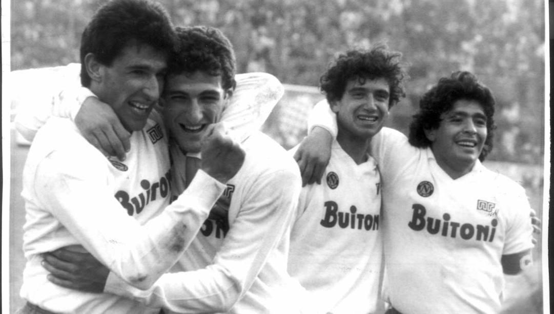 Salvatore Bagni con  Ferrara,  Romano  e Maradona