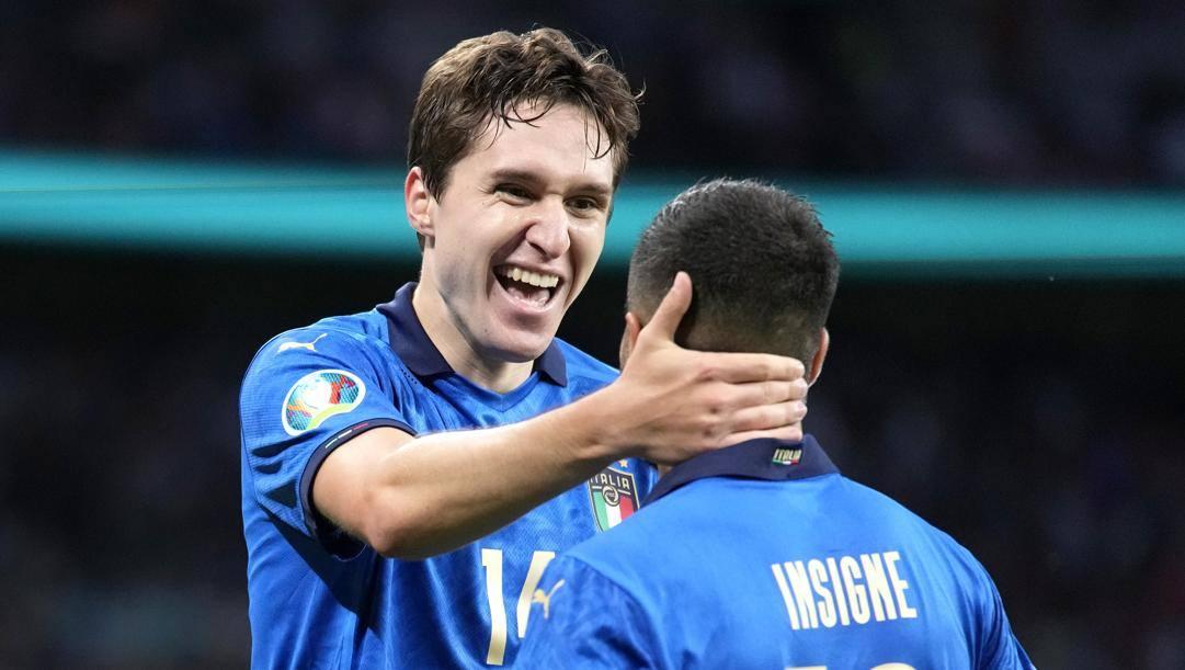 Federico Chiesa, 23 anni, e Lorenzo Insigne, 30. Getty Images
