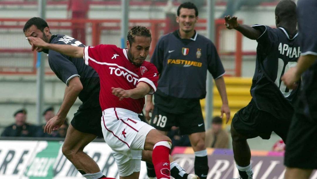 Saadi Gheddafi a Perugia nel giorno del suo esordio in serie A contro la Juve. Correva il 2 maggio 2004. La Presse