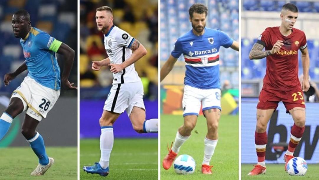 Tra i giocatori più presenti in questa Serie A ci sono il napoletano Koulibaly, l'interista Skriniar, Candreva della Sampdoria e Mancini della Roma