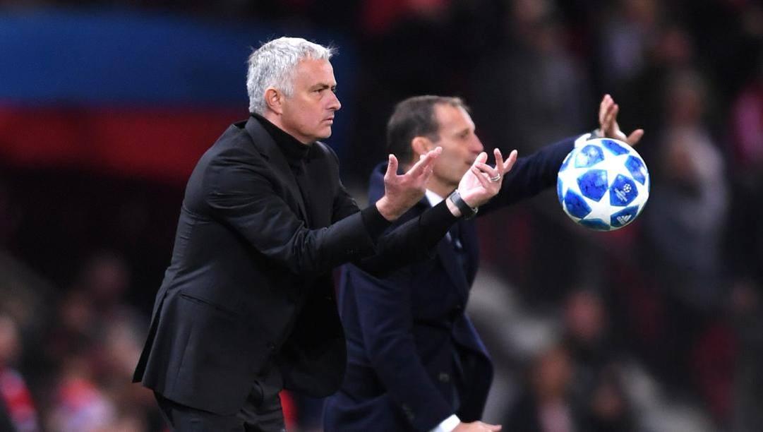 José Mourinho e Max Allegri. Getty