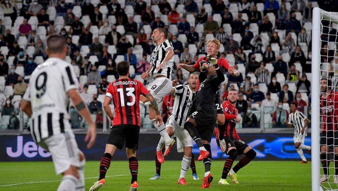 Il big match tra Juventus e Milan si è giocato in uno stadio pieno al 50%. Getty Images