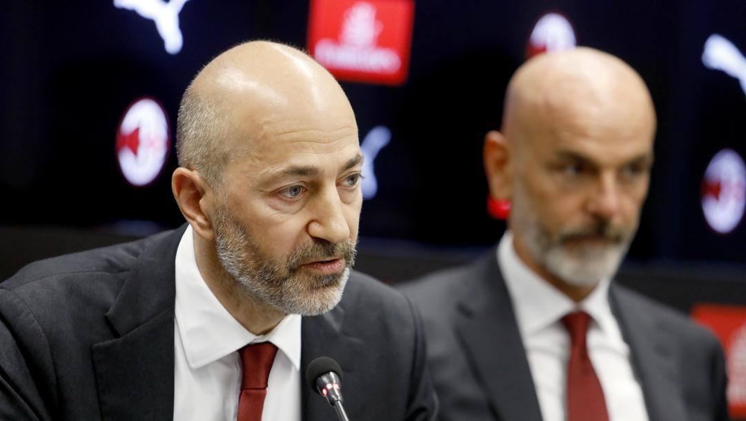 Ivan Gazidis con Stefano Pioli. LaPresse