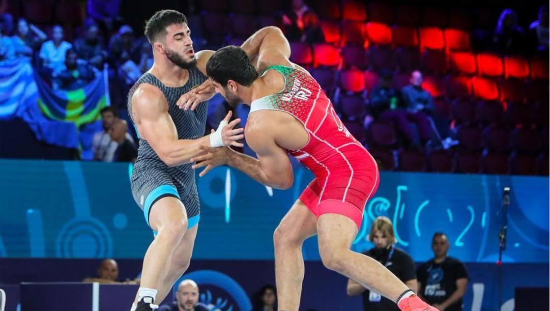 Nikoloz Kakhelashvili in azione ai Mondiali