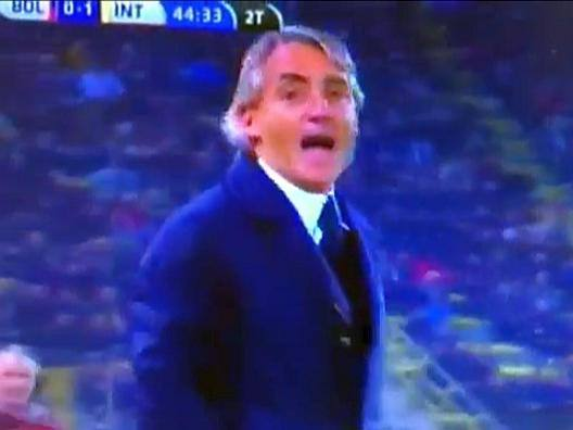 "Bologna-Inter, Mancini espulso sbotta: ""Somari!"" - Video Gazzetta.it"
