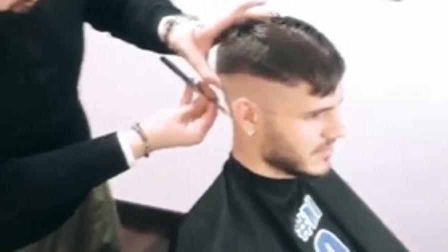 Taglio capelli icardi inter