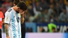 Leo Messi dopo la partita contro la Croazia. AFP