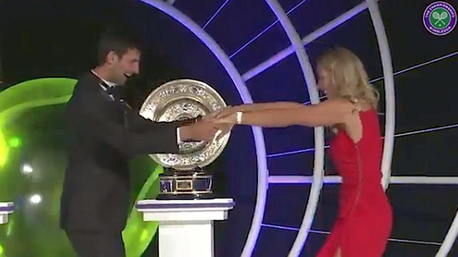 Djoko e Kerber, che performance al ballo post Wimbledon