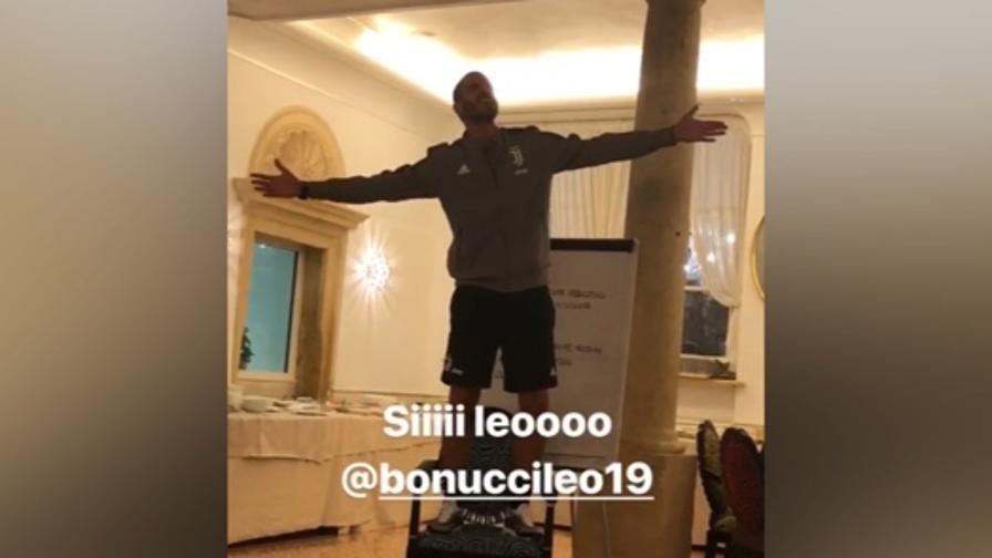 "Bonucci canta ""Generale"", show di Matuidi"
