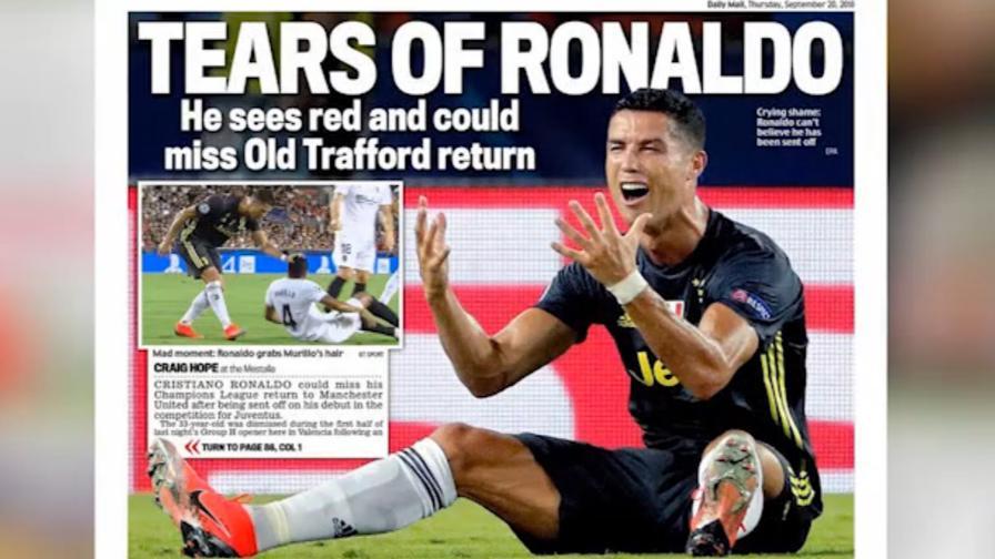 Ronaldo, il rosso e le lacrime <br>sui giornali di tutto il mondo