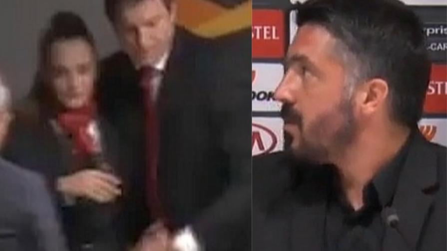 Hostess ha lieve malore in sala stampa e Gattuso si preoccupa
