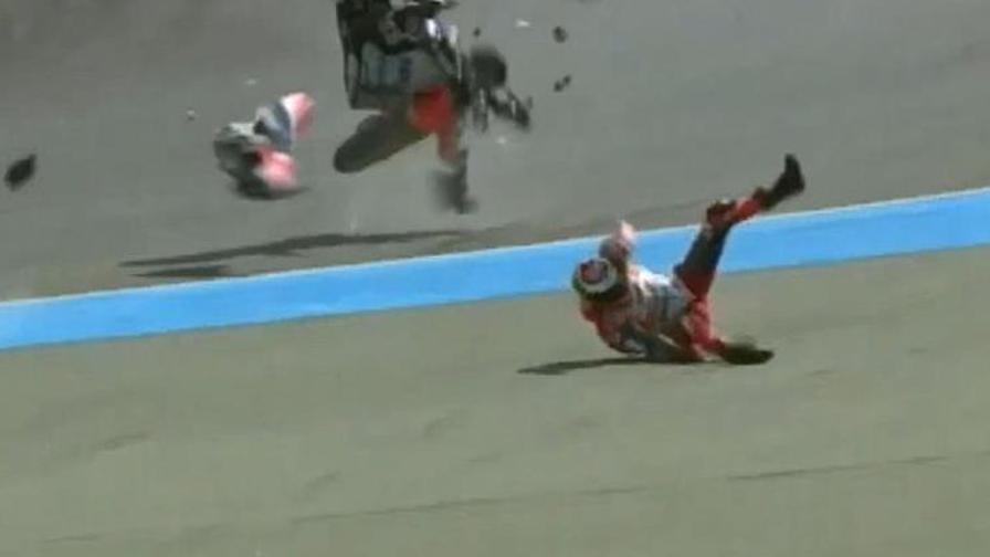 Lorenzo, paura in Thailandia<br>Volo shock dalla Ducati