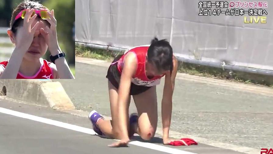 Gamba rotta, ma lei prosegue la corsa