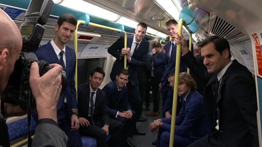 Federer, Djokovic e... Tutti i Master nel metrò di Londra