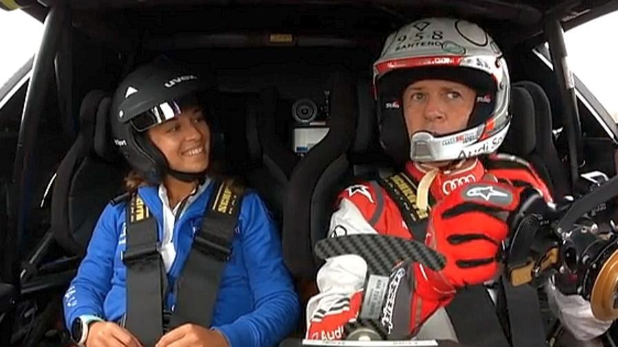Valentina Greggio e Dindo Capello sulla Audi Audi eTron Vision-GT