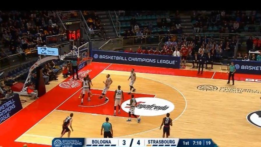 Virtus Bologna-Strasburgo 87-81: highlights