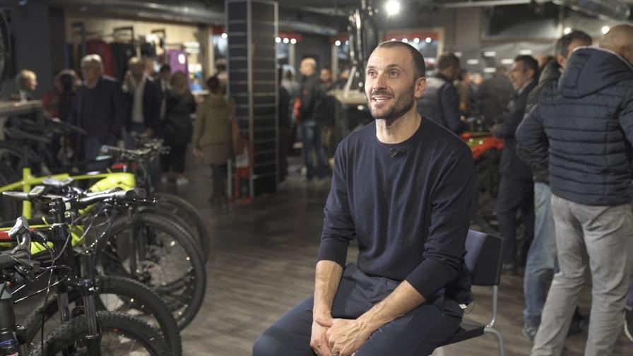 Ivan Basso al Trek Store di Roma