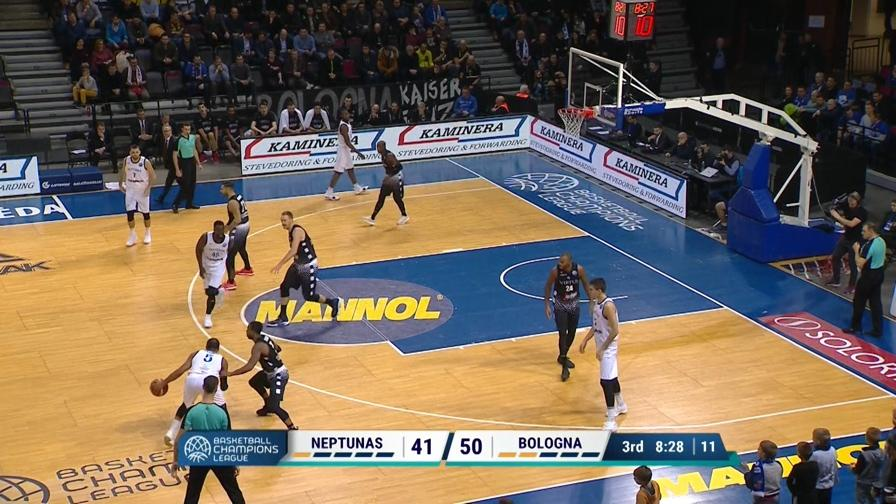 Neptunas-Virtus Bologna 88-85, gli highlights