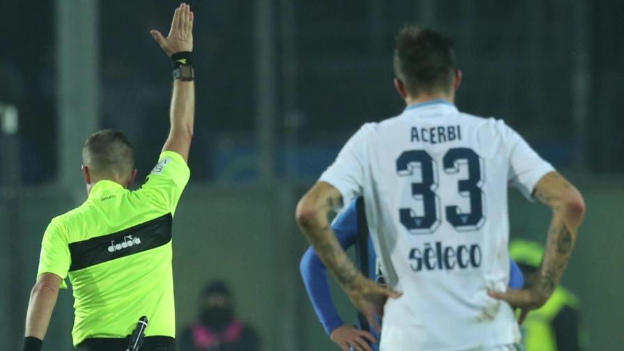 Lazio, la VAR 'beffa' Acerbi: le immagini