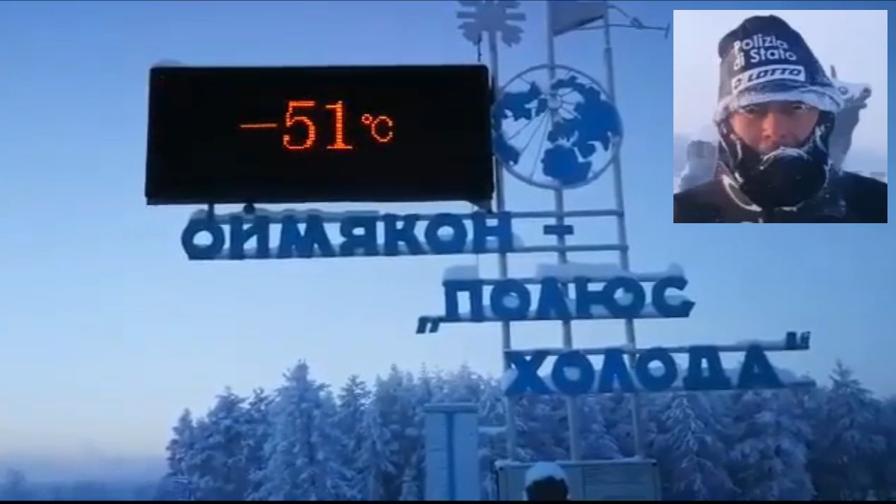 """Venturini, ultime prove a -51°: """"Sono pronto..."""""""
