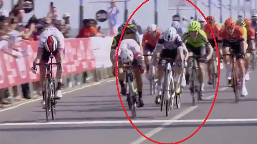 Incredibile Coquard: impenna in volata