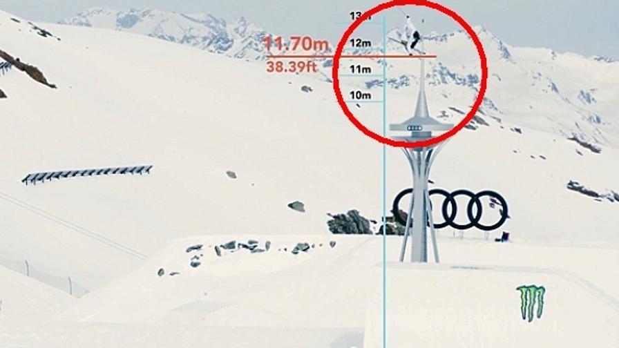 David Wise: salto record con gli sci