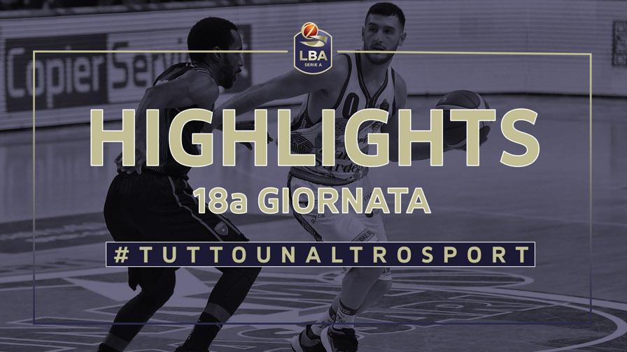 Basket, Serie A: gli highlights di Pesaro, Brindisi, Sassari e Trento