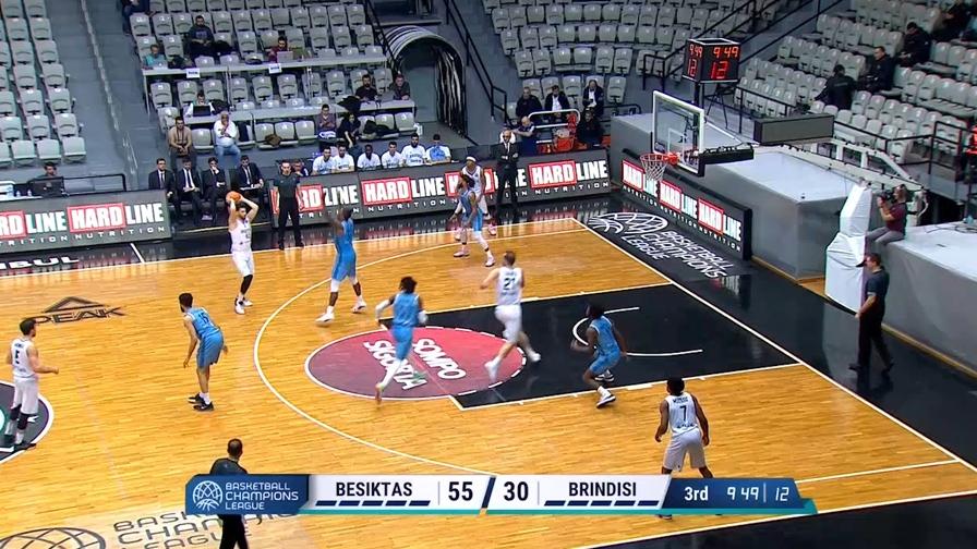 Champions, Brindisi crolla a Istanbul contro il Besiktas (96-67)