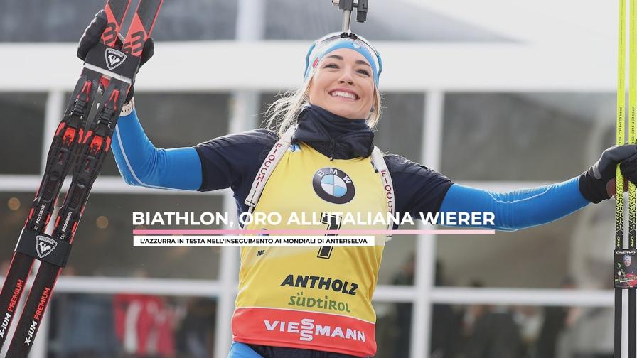 Dorothea Wierer, oro mondiale nell'inseguimento