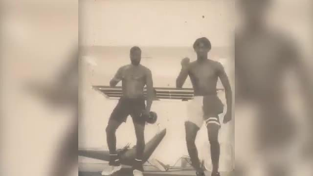 Wade e Zaire, l'allenamento finisce così...