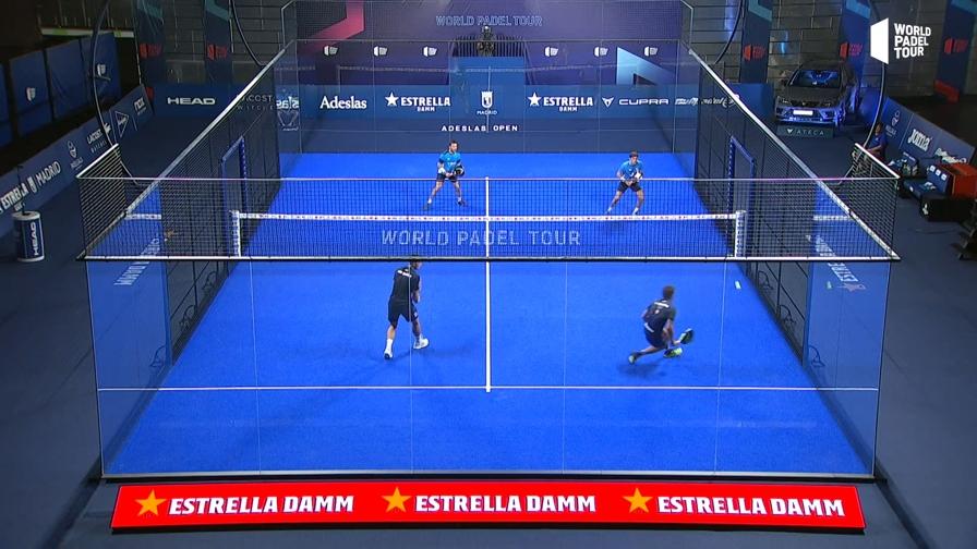 Riecco lo spettacolo del grande padel, che magie all'Adeslas Open di Madrid
