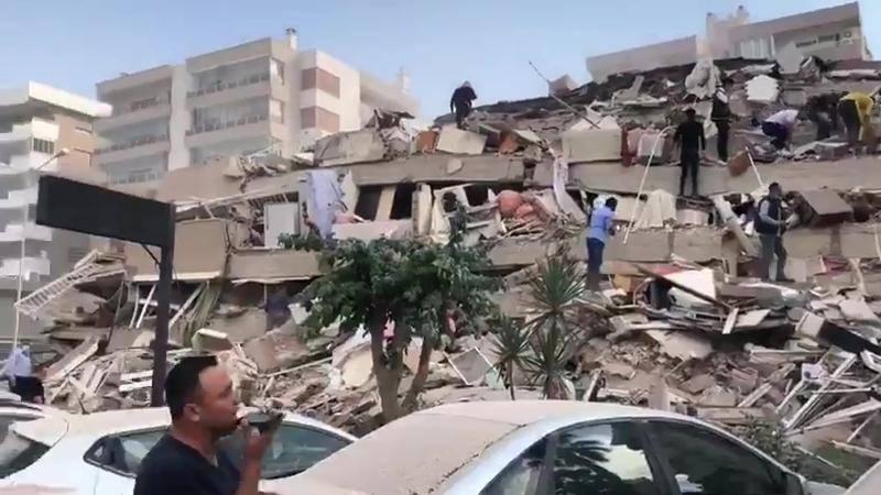 Video, terremoto Turchia: case distrutte a Izmir (Smirne)- Video Gazzetta.it