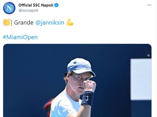 Ecco le primissime reazioni sui social dopo lo show di Jannik Sinner a Miami: il 19enne altoatesino diventa il più giovane italiano a centrare la finale di un Masters 1000, battendo 5-7 6-4 6-4 Roberto Bautista Agut