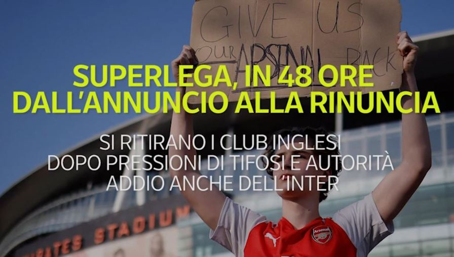 Si ritirano i club inglesi dopo pressioni di tifosi e autorità, addio anche dell'Inter. Ecco cosa è successo nelle ultime 48 ore